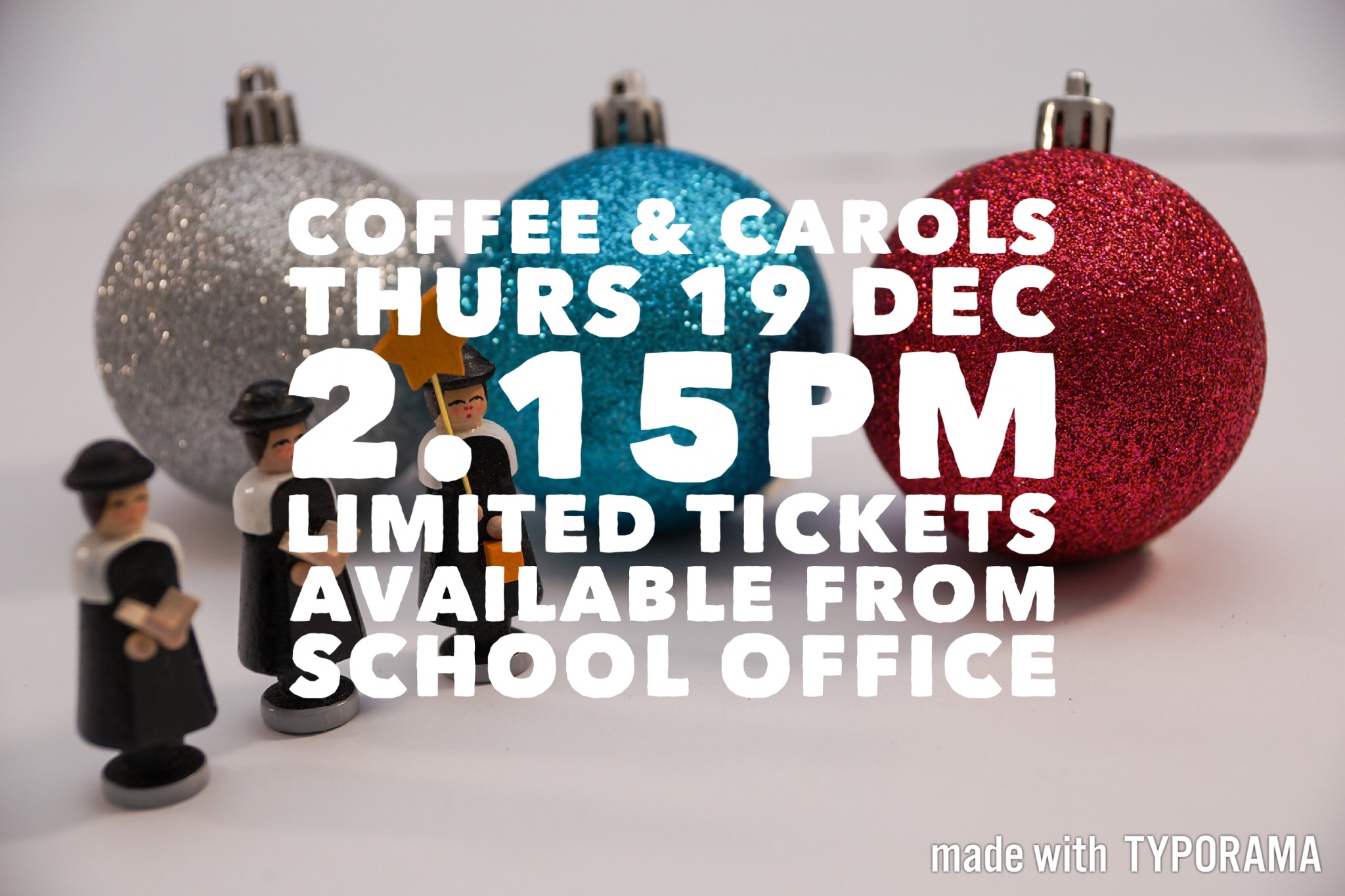 Coffee & Carols – Thurs 21 Dec 2.15pm