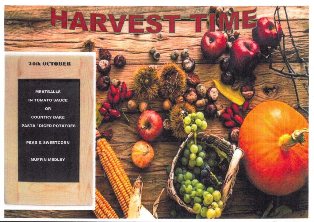 Harvest Menu 24 Oct 2019